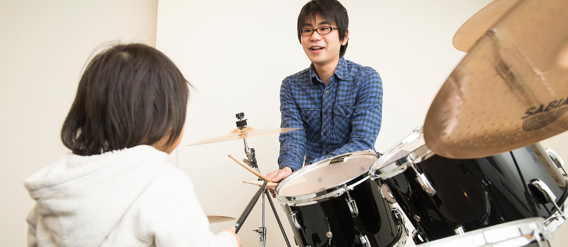 ドラム科のレッスン画像
