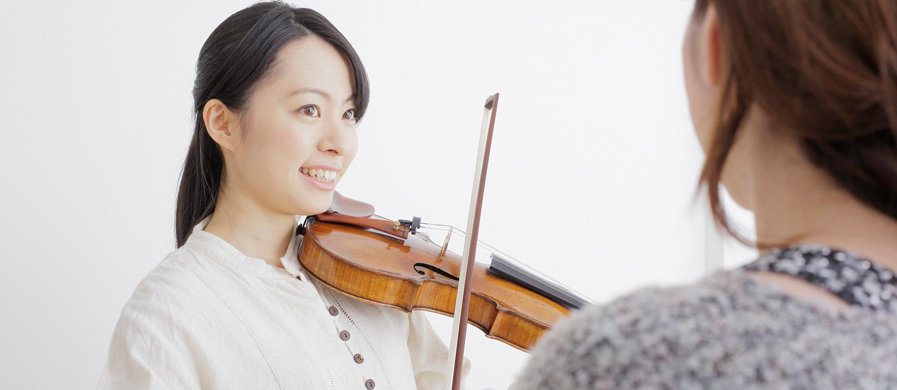 ヴァイオリン科のレッスン画像